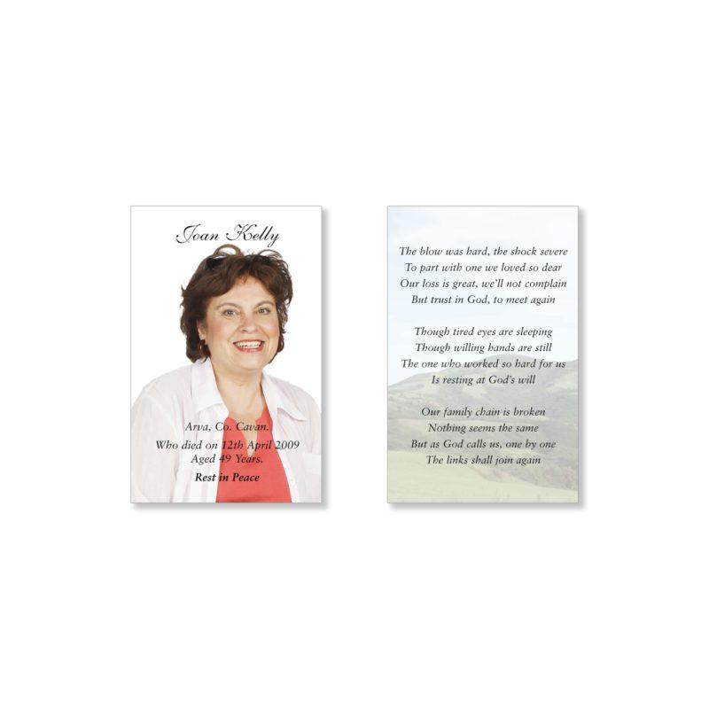 Memorial Cards Cavan   Offering top quality memorial stationery   Keepsake Cards Cavan