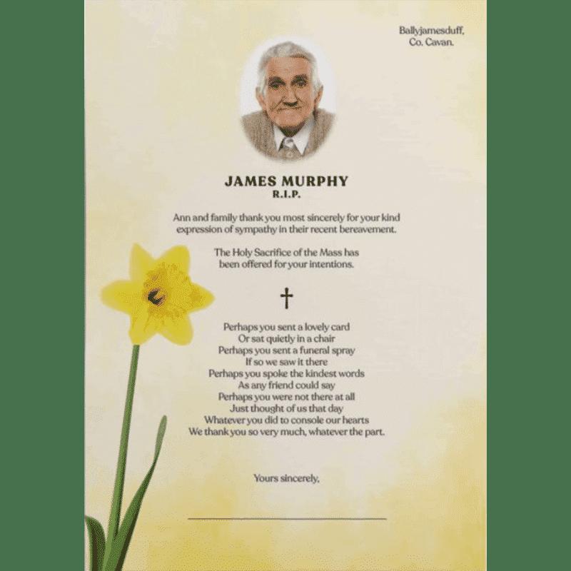 Memorial Cards Cavan   Offering top quality memorial stationery   acknowledgement letters Cavan